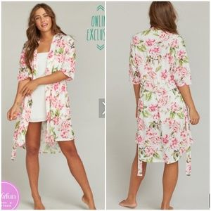 Show Me Your Mumu Brie Pink Floral Robe